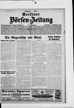 Berliner Börsen-Zeitung vom 29.08.1926