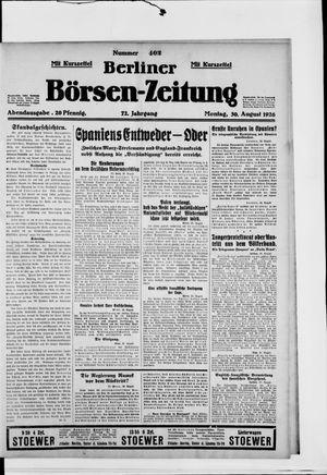 Berliner Börsen-Zeitung vom 30.08.1926