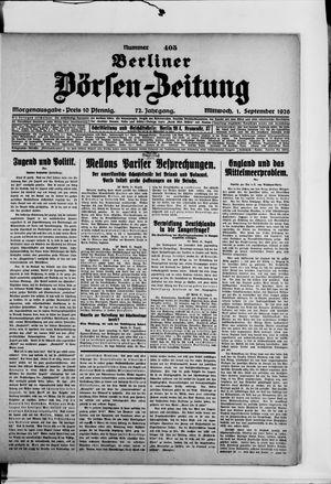 Berliner Börsen-Zeitung vom 01.09.1926