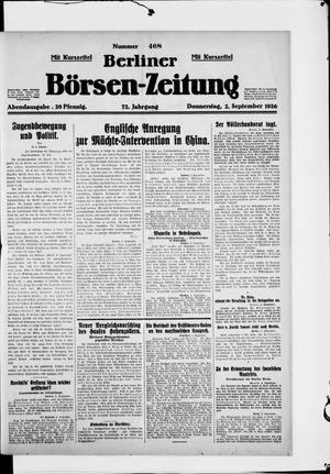 Berliner Börsen-Zeitung vom 02.09.1926