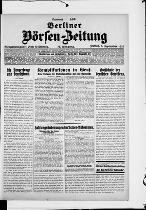 Berliner Börsen-Zeitung vom 03.09.1926
