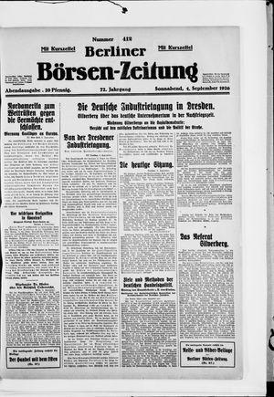 Berliner Börsen-Zeitung vom 04.09.1926