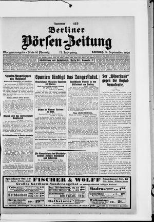 Berliner Börsen-Zeitung vom 05.09.1926