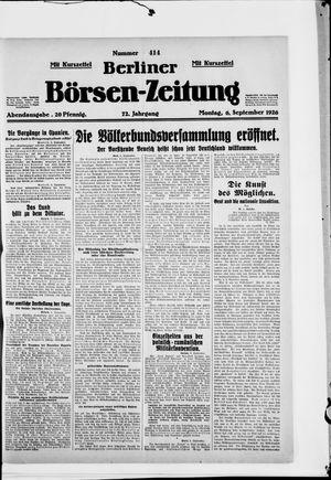 Berliner Börsen-Zeitung vom 06.09.1926