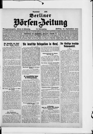 Berliner Börsen-Zeitung vom 10.09.1926