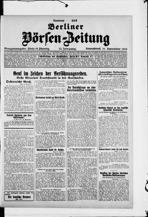 Berliner Börsen-Zeitung vom 11.09.1926