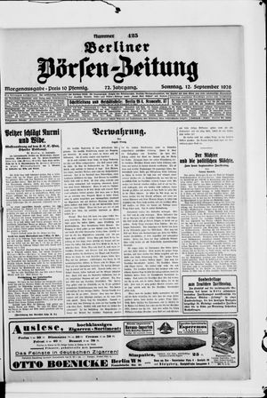Berliner Börsen-Zeitung vom 12.09.1926