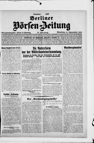 Berliner Börsen-Zeitung vom 14.09.1926