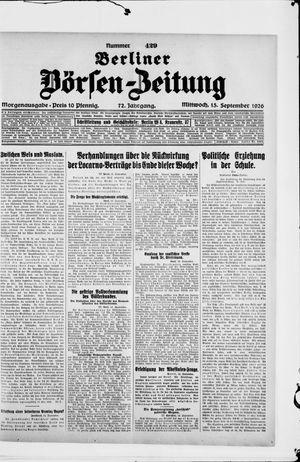 Berliner Börsen-Zeitung vom 15.09.1926