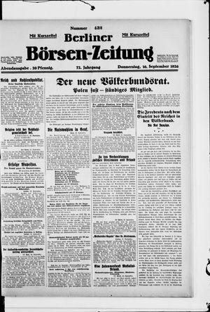 Berliner Börsen-Zeitung vom 16.09.1926