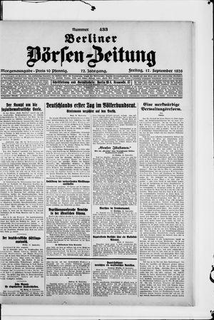 Berliner Börsen-Zeitung vom 17.09.1926