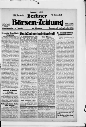 Berliner Börsen-Zeitung vom 18.09.1926