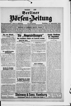 Berliner Börsen-Zeitung vom 19.09.1926