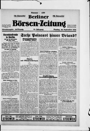 Berliner Börsen-Zeitung vom 20.09.1926