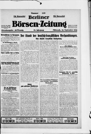 Berliner Börsen-Zeitung vom 22.09.1926