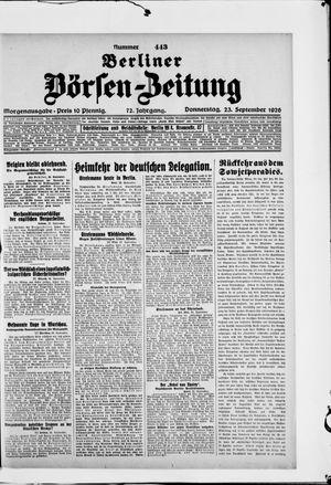 Berliner Börsen-Zeitung vom 23.09.1926