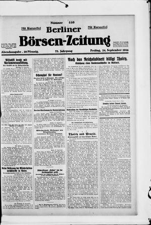 Berliner Börsen-Zeitung vom 24.09.1926