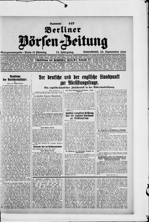 Berliner Börsen-Zeitung vom 25.09.1926