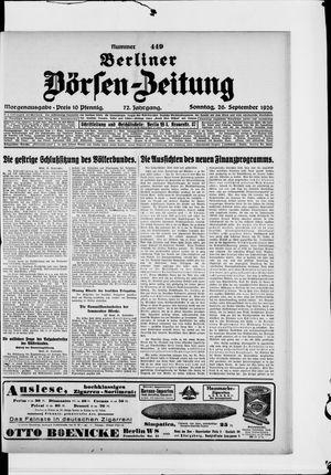 Berliner Börsen-Zeitung vom 26.09.1926