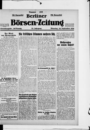 Berliner Börsen-Zeitung vom 28.09.1926