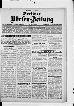 Berliner Börsen-Zeitung vom 29.09.1926