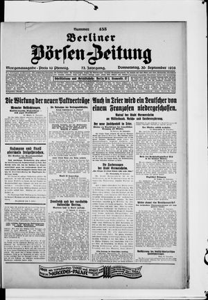 Berliner Börsen-Zeitung vom 30.09.1926