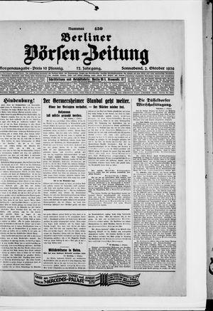 Berliner Börsen-Zeitung vom 02.10.1926