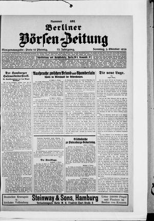 Berliner Börsen-Zeitung vom 03.10.1926