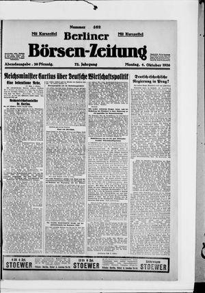 Berliner Börsen-Zeitung vom 04.10.1926