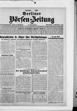 Berliner Börsen-Zeitung vom 05.10.1926