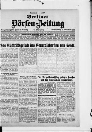 Berliner Börsen-Zeitung vom 07.10.1926