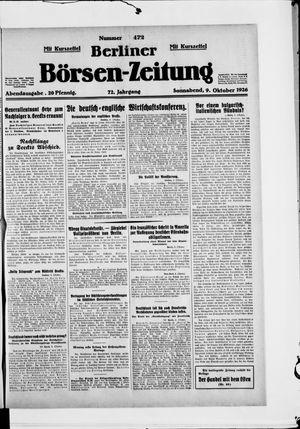 Berliner Börsen-Zeitung vom 09.10.1926