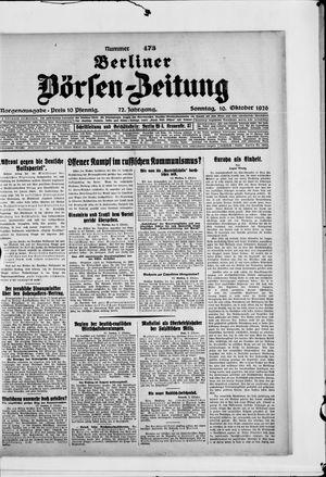 Berliner Börsen-Zeitung vom 10.10.1926