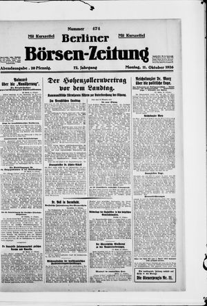 Berliner Börsen-Zeitung vom 11.10.1926