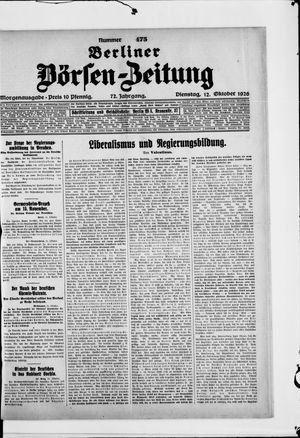Berliner Börsen-Zeitung vom 12.10.1926