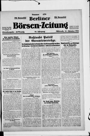 Berliner Börsen-Zeitung vom 13.10.1926