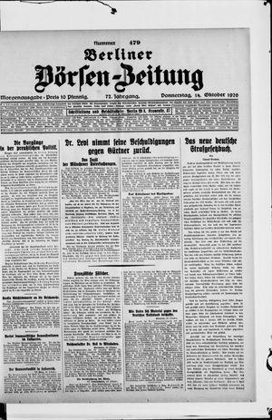 Berliner Börsen-Zeitung vom 14.10.1926