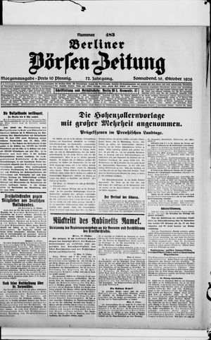 Berliner Börsen-Zeitung vom 16.10.1926