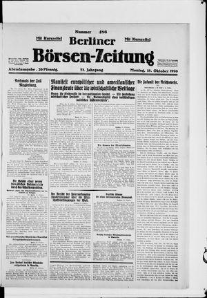 Berliner Börsen-Zeitung vom 18.10.1926