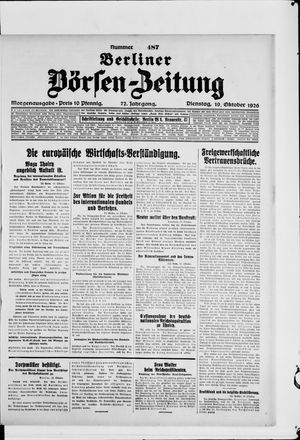 Berliner Börsen-Zeitung vom 19.10.1926