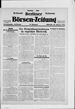 Berliner Börsen-Zeitung vom 20.10.1926