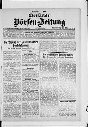 Berliner Börsen-Zeitung vom 21.10.1926