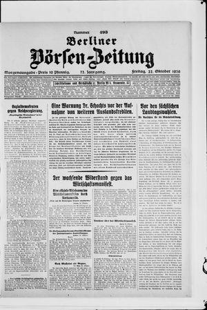 Berliner Börsen-Zeitung vom 22.10.1926