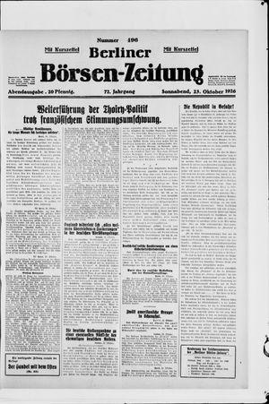 Berliner Börsen-Zeitung vom 23.10.1926