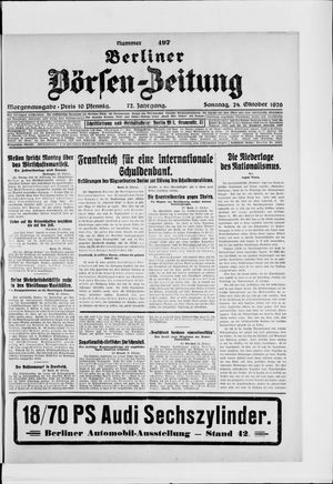 Berliner Börsen-Zeitung vom 24.10.1926