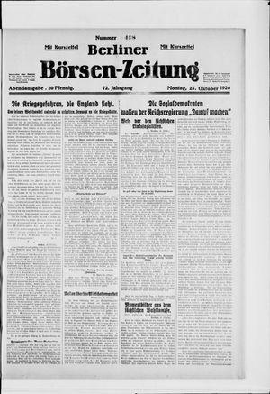 Berliner Börsen-Zeitung vom 25.10.1926