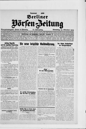 Berliner Börsen-Zeitung vom 26.10.1926