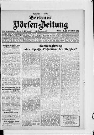 Berliner Börsen-Zeitung vom 27.10.1926