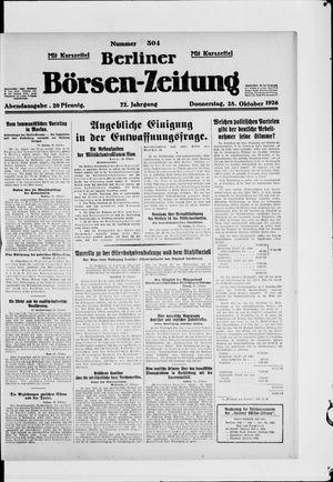 Berliner Börsen-Zeitung vom 28.10.1926