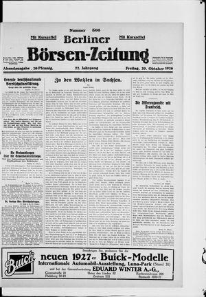 Berliner Börsen-Zeitung vom 29.10.1926
